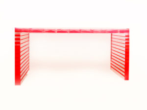 Acrylic Console table 'Staff' by poliedrica