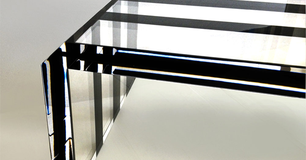 Plexiglas coffee table Poliedrica