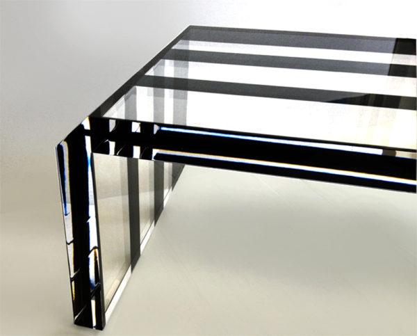 Plexiglas coffee table Poliedrica