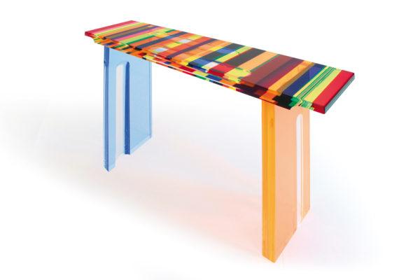 Plexiglass console 'Multicolore' Poliedrica