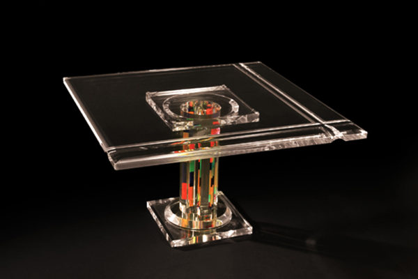 Coffe table in plexiglas by Poliedrica