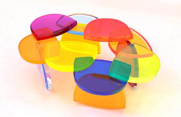 Plexiglas Coffee table BonBon by M. Pettinari