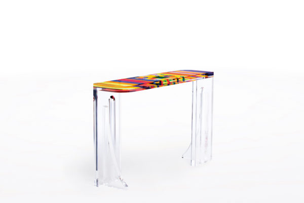 Console in plexiglas 'Stumble' Poliedrica