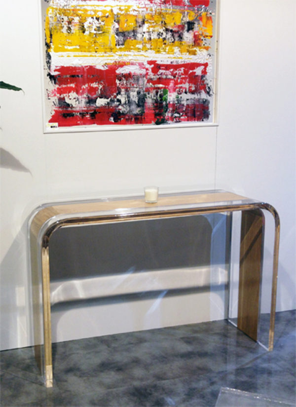 Console table lucite wood Tiblisi