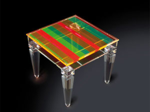 Display side table, plexiglass Poliedrica',