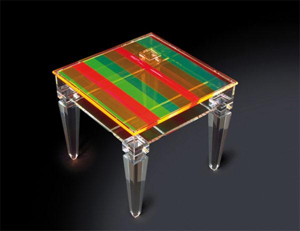 Display side table, plexiglass Poliedrica',