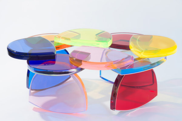 Plexiglass Coffee table BonBon by M. Pettinari