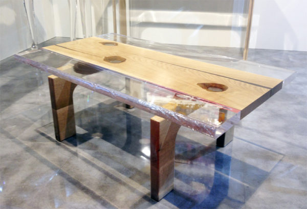 Tavolino plexiglass legno Spring
