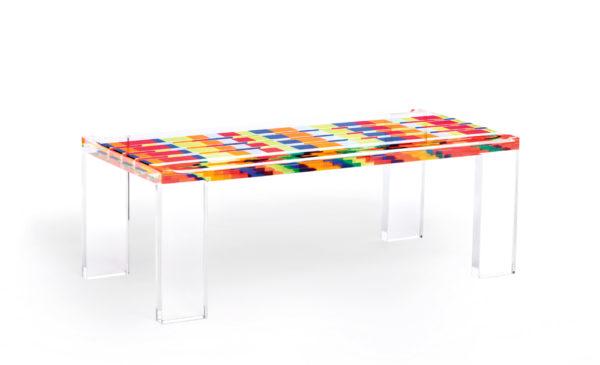 Tavolo da salotto in plexiglas Pliedrica