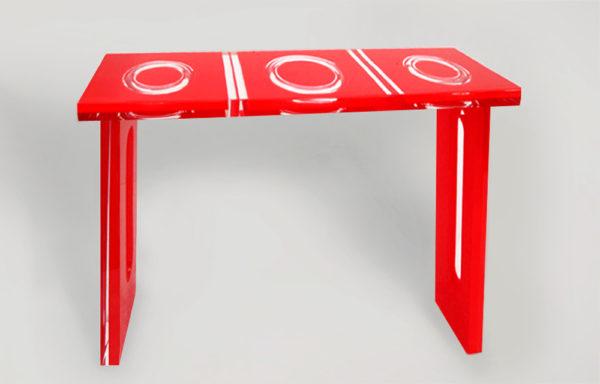 consoles in plexiglas ' Ring' Poliedrica